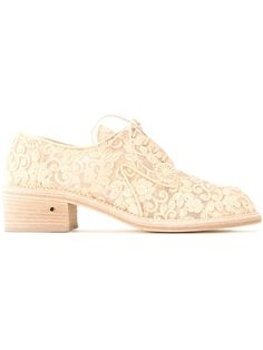 LAURENCE DACADE Embroidered Lace-Up Shoes. #laurencedacade #shoes #flats