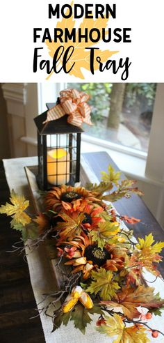 Modern Farmhouse Fall Tray A Quick And Easy Project For Decor