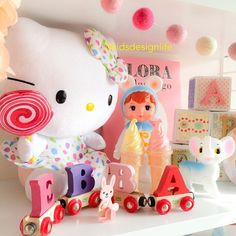 Barnrum shelf, kitsch, Hello Kitty, Woodland doll, via kidsdesignlife DESIGN + LIFE + KIDS