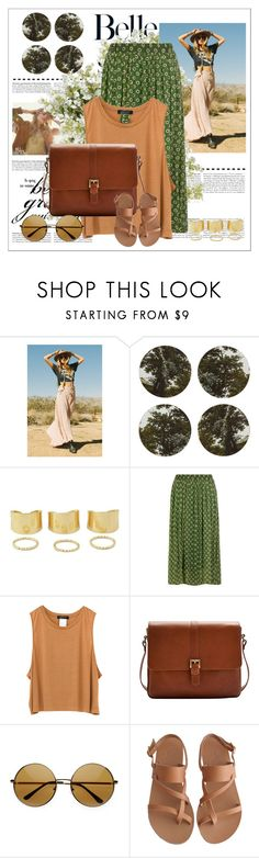 """Hippie Chic"" by xsaturnox ❤ liked on Polyvore featuring Boho & Co, Vanessa Mooney, Dorothy Perkins, Joules, Ancient Greek Sandals and New Growth Designs"