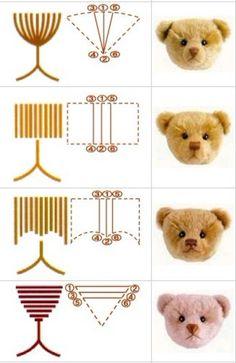 专业泰迪熊绣鼻子的方法: