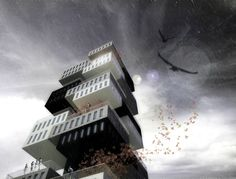 Apartments Tower Building with its spiral open space.