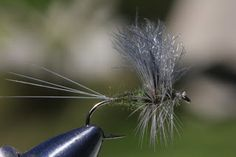 Fly Fishing and Fly Tying: Blue Wing Olive using Zelon and CDC for wing
