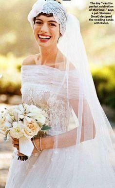Anne Hathaway também casou de rosa | Noiva.com por Gabrieli Chanas