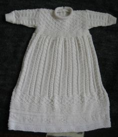 Monogrammed Gansey Christening Gown - Judy's Knitting Page