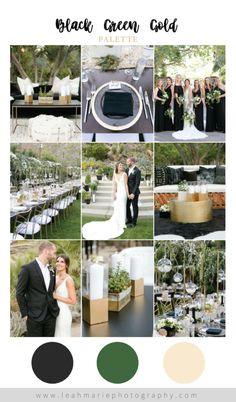 Forever Not the Same Leah Marie Photography – Black, gold, and green wedding color scheme. Temecula & Palm Springs, CA. Wedding Color Pallet, Gold Wedding Colors, Gold Wedding Theme, Wedding Color Schemes, Dream Wedding, Wedding Ideas, Wedding Advice, February Wedding Colors, Wedding Decor