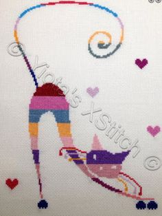 This is a fun and colorful freebie from Yiota's XStitch. The pattern has information and numbers for both Madeira and DMC (in brackets) thread numbers. Stitching is all whole stitches and you could...