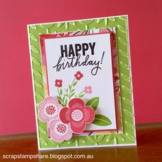 This card features the Happy Everything Operation Smile stamp set from the Seasonal Expressions 2 Idea Book (2015).  Created by Denise Tarlinton, http://scrapstampshare.blogspot.com.au