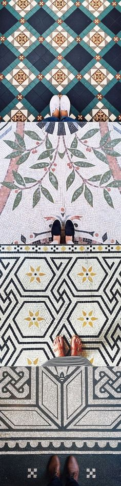 I never liked this floor + feet combination, but the tiles / mosaics! Amazing, ignore the rest :)