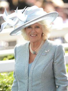 royaltyspeaking:  Royal Ascot 2014, Day 1, June 16, 2014-Duchess of Cornwall