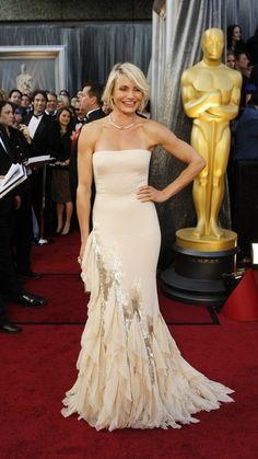 Cameron Diaz: Gucci dress, Salvatore Ferragamo shoes, $1 million in Tiffany & Co. jewels