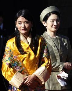 The Queen of Bhutan and Princes Kiko of Japan