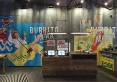 The team behind Mexican restaurant chain Wahaca is launching new restaurant Burrito Mama, with branding by BuroCreative and interior design by Softroom. Mexican Restaurant Decor, Cafe Restaurant, Restaurant Design, Pub Design, Retail Design, Store Design, Wahaca, Decoration For Ganpati, Restaurants