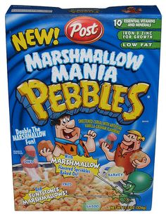 Post Marshmallow Mania Pebbles - The Impulsive Buy New Cereal, Kids Cereal, Cereal Food, Discontinued Food, Pebbles Cereal, Types Of Cereal, Impulsive Buy, Cereal Killer, Granola Cereal