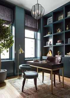 Whether you're looking for bold living room inspiration or you want to add some edge to your home office, keep scrolling to discover five Bauhaus color ideas that will help you incorporate this iconic style with ease. #hunkerhome #bauhaus #bauhausideas #bauhausinspo #bauhauscolorideas Office Interior Design, Office Interiors, Home Interior, Office Designs, Luxury Interior, Classic Interior, Modern Interior, Art Interiors, Gray Interior