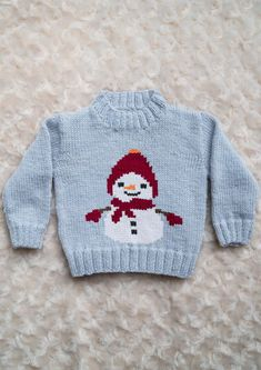 Intarsia - Snowman Chart - Childrens Sweater Knitting pattern by Instarsia - P. - Intarsia – Snowman Chart – Childrens Sweater Knitting pattern by Instarsia – Projects to Try - Baby Knitting Patterns, Baby Sweater Knitting Pattern, Intarsia Knitting, Baby Boy Knitting, Knit Baby Sweaters, Knitting Charts, Baby Patterns, Christmas Knitting, Christmas Sweaters