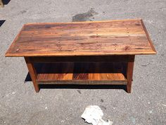Pecky Cypress With Tobacco Stick Trim Coffee Table