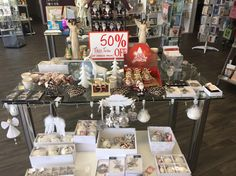 Last Day — Today is our last day of our half price Christmas Sale. Come out and see us today. We also have feet Christmas Gift Decorations, Table Decorations, Salt Room, Victoria Australia, Half Price, Christmas Sale, Centre, Table Settings, Healing