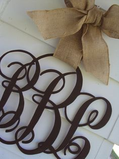 Wooden Monogram Script Individual or Family Initial Monogram Decor | How Do It
