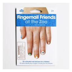 25 autocollants animaux pour ongles