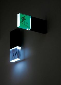 viabizzuno glass emergency light by zumthor