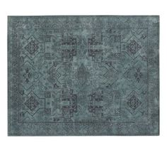 Kent Persian-Style Rug #potterybarn   indian wool, blue-black.. runner $400.  up to 9'x12'
