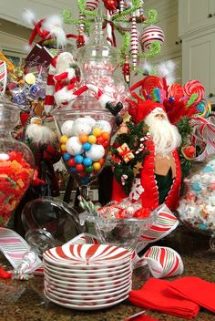 We LOVE to decorate with candy!!!!!! www.fearlessentertaining.com