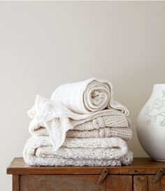 white knitted home accessories by the style files, via Flickr