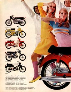 1967 Honda 90 Roadster motorcycle two page print ad Honda Shapes the World of…