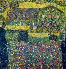 Country House on Attersee Lake, Upper Austria. Gustav Klimt