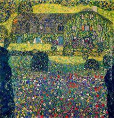 Country House on Attersee Lake, Upper Austria. Gustav Klimt