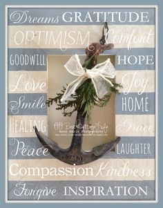 These are a few of my favorite things... Optimism, Compassion, Gratitude & Grace... it's a Beach Cottage Life  www.facebook.com/BeachCottageLifePhotography