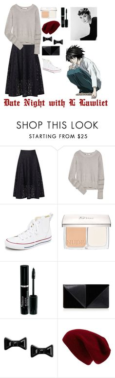"""Date Night with L Lawliet"" by charbear231 ❤ liked on Polyvore featuring DKNY, T By Alexander Wang, Converse, Christian Dior, UN United Nude, Marc by Marc Jacobs and Sole Society"