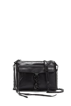 Mini M.A.C. Crossbody - Go for a chic monochrome look with the black Mini M.A.C. finished with tough black hardware. Pair it with a printed dress for the perfect after-dark ensemble.     Not Eligible For Promotion