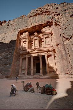 Al-Khazneh, the treasury of Petra, Jordan ~ Photo by...hebiflux©
