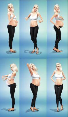 Baby On The Way posepack at Randomchick32 via Sims 4 Updates