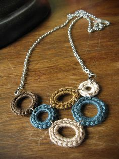 crochet necklace by Sweet William Handmade