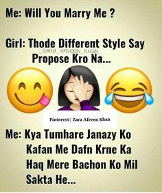 Zara Afreen Khan ❤ Shayari Funny, Funny Quotes In Hindi, Best Friend Quotes Funny, Funny Attitude Quotes, Comedy Quotes, Funny True Quotes, Jokes Quotes, Hindi Comedy, Exam Quotes Funny