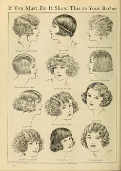 Some lovely late 20s early 30s styles, hairstyle, vintage hairstyle, vintage bride, Great Gatsby hairstyle