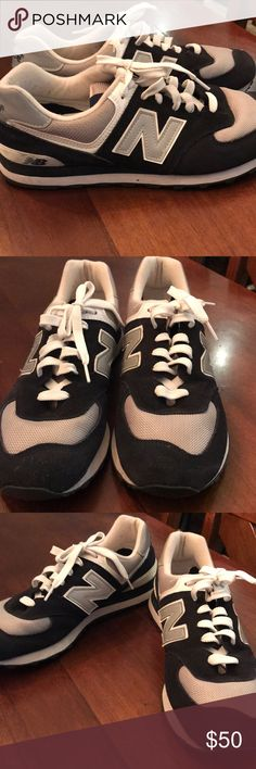 Men's New Balance Shoes Excellent condition. They are navy, white and silver new balance shoes. Worn a handful of times. New Balance Shoes Athletic Shoes