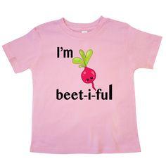 #Funny I'm beet-i-ful #Toddler #T-Shirt sporting a cute turnip www.inktastic.com