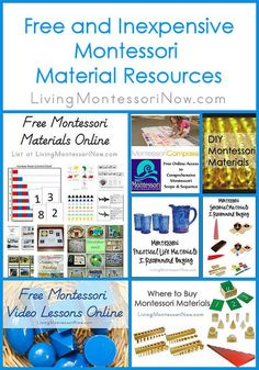 If you're a Montessori teacher, preschool teacher, or homeschooler looking for free and inexpensive Montessori materials for your classroom.