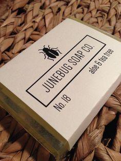 Aloe & Tea Tree handmade soap.  Available from Junebug Soap Co. at www.etsy.com/shop/JunebugSoapCo