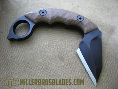 Custom karambit with G-10 handle Miller Bros. Blades handmade knives, swords & tomahawks