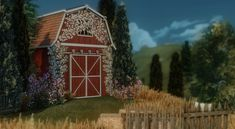 ✿Roli Cannoli CC Findz Corner✿ — aggressivekitty: AGGRESSIVEKITTY: FUNCTIONAL... Cottage Living, Country Living, Sims Building, The Sims 4 Download, Rustic Barn, Gazebo, Shed, Outdoor Structures, Cabin