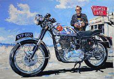 Motorcycle art de Ton-Up culture un blog dedicado a las motos clásicas, cafe racer, música y cine. Ton up culture is a thematic blog, of classic motorcycles, cafe racer, vintage stuff, music and cinema Ton-Up Culture