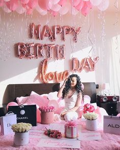 Surprise Birthday Decorations In Your Bedroom Birthday Goals, 18th Birthday Party, Birthday Party For Teens, Birthday Photos, Birthday Celebration, Girl Birthday, Birthday Room Surprise, Birthday Ideas, Birthday Room Decorations