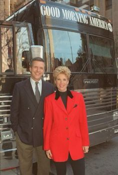 With Charlie Gibson on one of our many Good Morning America Bus Tours
