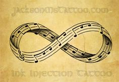 Music infinity tattoo