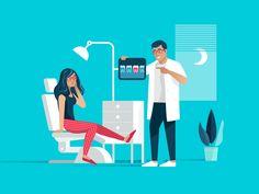 02 At The Dentist Illustration